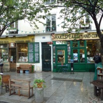Famous Shakespeare and Co. bookstore