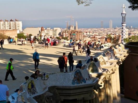 Park Güell tiled bench/walls