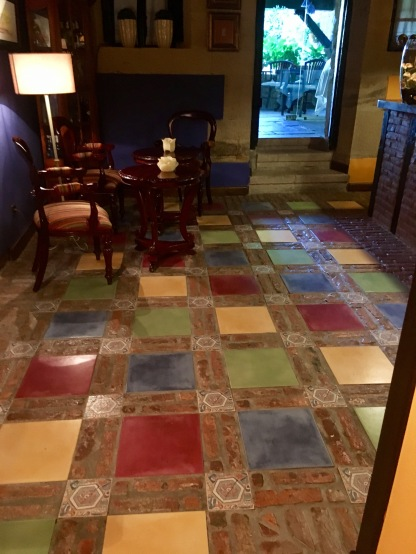 Floor in bar area