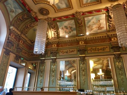 Le Bibent ceiling and chandillars