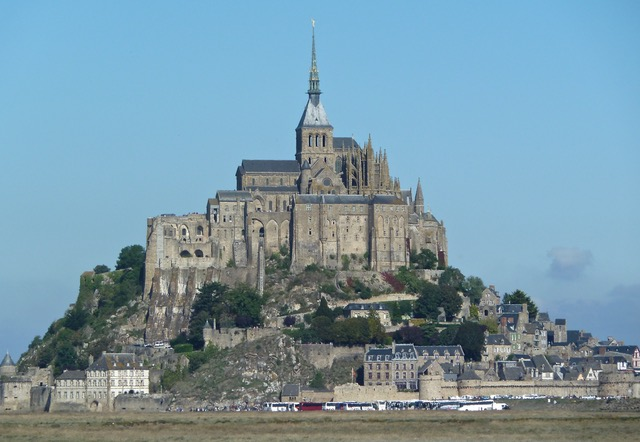Mont Saint-Michel; Island in France